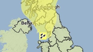 Weather warning for rain on Sunday 3rd August 2014