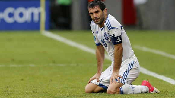 Greece's Giorgos Karagounis reflects on his side's 2-1 defeat by the Czech Republic.