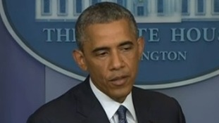 President Obama at a news briefing earlier today.