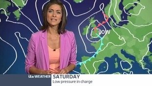 ITV Weather presenter Lucy Verasamy.