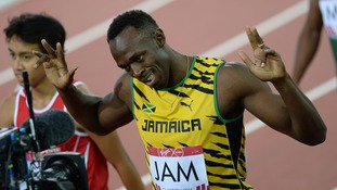 Usain Bolt after sailing through the qualifying 4 x 100m relay heats on Friday.