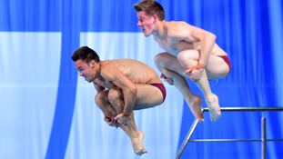 Tom Daley and James Denny finished second in the synchronised men's finals.