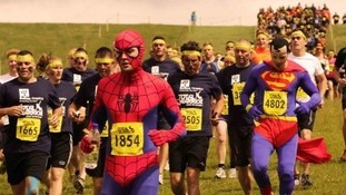 Runners dressed in fancy dress