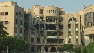 The Islamic University of Gaza was said to have been hit by an Israeli air strike.