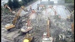 bridge demolished