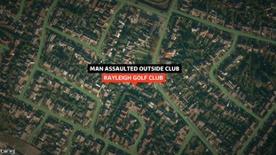 Man assaulted outside club in Rayleigh in Essex.