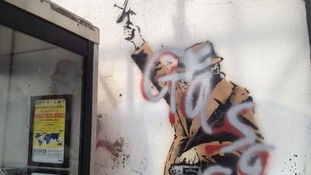 Banksy artwork was defaced by vandals