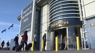 Passengers are being warned of travel delays getting to East Midlands Airport on Monday