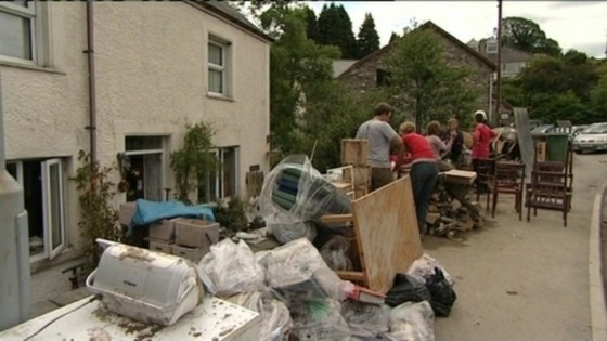 Funds are to be raised to help flood victims in Ceredigion.