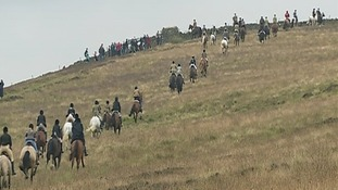 More than 300 horses took part in the gallop.