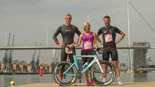 Celebrity captains Mark Foster, Rob Hayles and Jenni Falconer all took part in the sprint relay