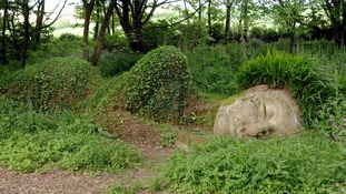 The picture shows the so-called Mud Maid in 'The lost Gardens of Heligan' in Pentawan close to St. Austell