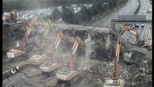 diggers destroy bridge