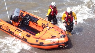 RNLI volunteers are showing off their skills in Weston-super-Mare