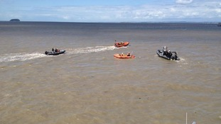 Coastguards demonstrate rescue missions at Weston-super-Mare