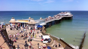 Lifeboat day at Cromer in the sunshine