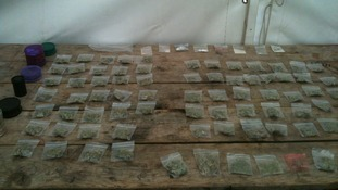 Bags of drugs