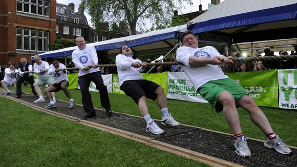 The Lords&#x27; tug-of-war team were defeated, despite their best efforts.