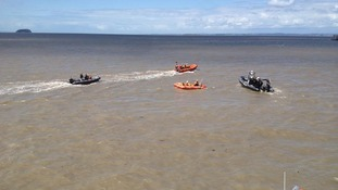 Coastguards and RNLI show rescue skills in Weston-super-Mare