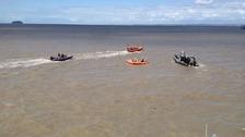 Coastguards and RNLI show rescue skills in Weston-super-Mare