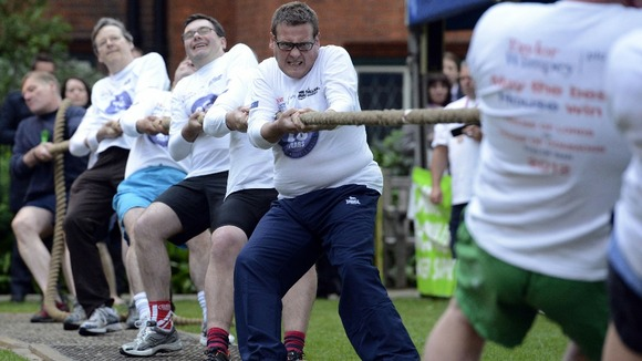 A team of MPs successfully beat peers in the annual Parliamentary Tug of War in aid of the Macmillan Cancer Support