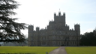 The home of Downtown Abbey was the setting for a reenactment of the famous WW1 football match.