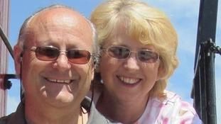 Nancy Writebol with her husband David.
