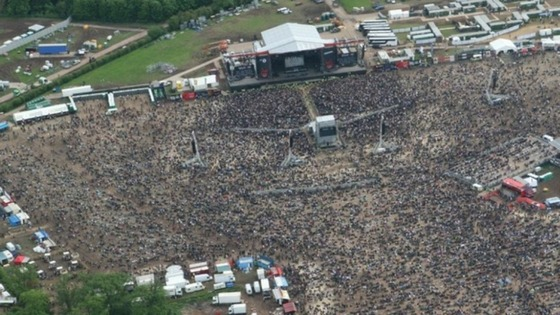 Fans gather at Download festival ahead of Black Sabbath performance at 22.45