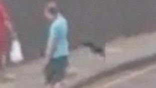 Video taken on Julians Road in Stevenage on Thursday