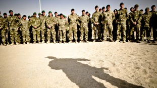British troops at Camp 501, Camp Bastion, Helmand Province in Afghanistan.