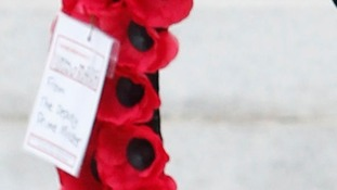Nick Clegg's message on his WW1 wreath note.
