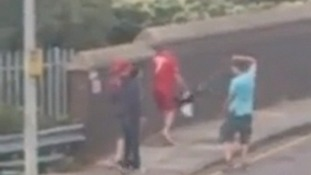 Footage recorded at Julians Road near the junction of Fairview Road in Stevenage