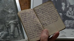 Frank Lord's diary tells of being 40 yards from the German trenches.