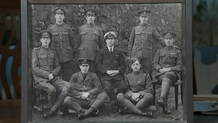 The Lord brothers: William (left), Arthur (top left), Gilbert (top centre), Ted (top right), Jan's father Frank (right), Jim (bottom left), Sidney, Sidney (centre), Len (bottom right).