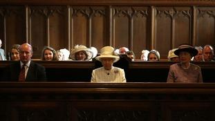 The Queen sits in Crathie Kirk Church in Crathie, Aberdeenshire.