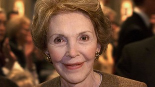Nancy Reagan has called ex-US press secretary James Brady the personification of courage and perseverance.""