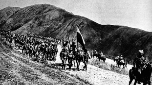 The Caucasus front pictured during the First World War.