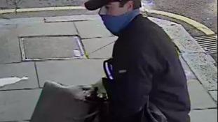 Christopher Gibbs caught on CCTV