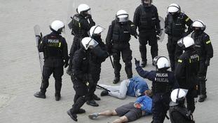 Euro 2012 Poland Russia violence