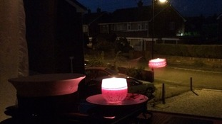 Bobbie Molle chose a single pink candle.