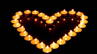 Wendy Matthews marked Lights Out with a heart of tealights.