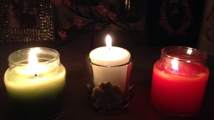 Stacey Ann Hutchins opted for three candles to honour the fallen soldiers.
