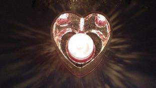 Rachel Hancock lit this candle in Halling, Kent.