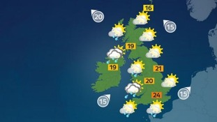 It will be a warm start but heavy showers could hit western parts in the afternoon.