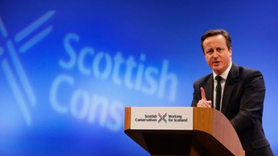 David Cameron has promised 'further strengthening' of the Scottish Parliament.