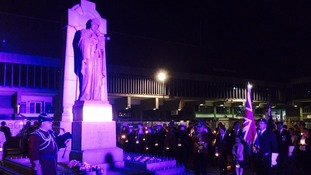 Hundreds visited Derby's War Memorial