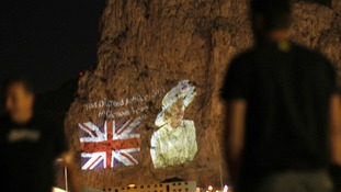 Image of The Queen on the Rock of Gibraltar