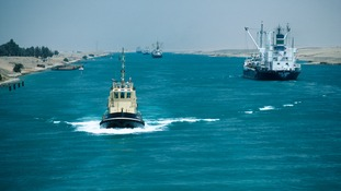The Suez Canal in Egypt.