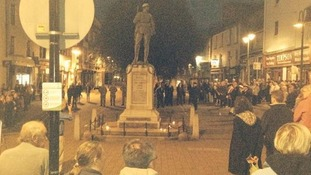 The rededication service was held at the town's war memorial