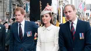 The royal trio will visit the Tower of London today.